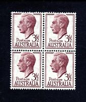 1951 ***MUH*** KGVI - 3.5d PURPLE-BROWN - BLOCK of 4 - Stamps are NICELY CENTRED