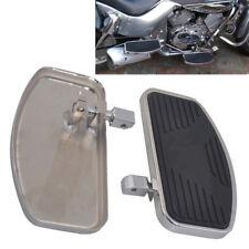 2x Fußrasten Fußpedal Stahl+Gummi für Harley Chopper Cruiser Glide Honda Suzuki