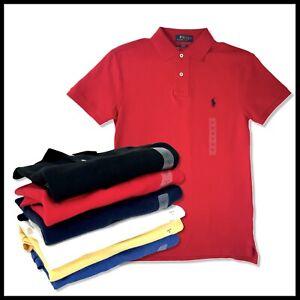 Polo Ralph Lauren Mens Short Sleeve Slim Fit Casual Lapel Shirt New Authentic