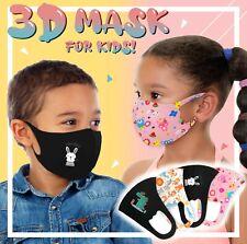 4PK Boys Girls Face Mask Kids Toddler Reusable Washable Cover Breathable Popular