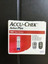 100 Accu-Chek Aviva Plus  Diabetic Blood Glucose Test Strips expire 2021-07-31