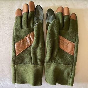 """Vintage Morris """"Feel"""" Glove, Shooting, Hunting, Marksman, green Wool , Archery"""
