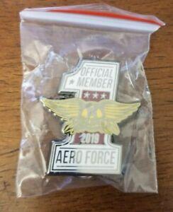 2019 Aerosmith AERO FORCE Fan Club Tack Pin Merchandise Brand New