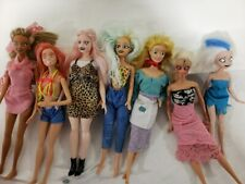 7 Artist Created Creepy Dolls Hand Painted Faces Monster High Not!!! Used