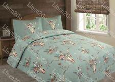 Steer Skull Skeleton Flower Rustic Western Bedspread Comforter Quilt - 3 Pc Set