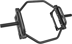 CAP Barbell Olympic Trap Bar/Hex Bar/Shrug Bar/Deadlift Bar - Black Home Gym NEW