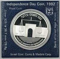 1992 Israel 2 New Sheqalim Silver Proof Independence Day Commem Coin as Issued
