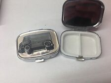 Citroen HY Van ref43 pewter effect car emblem on silver metal pill box