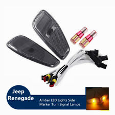 For Jeep Renegade 2015-2017 Car Side Marker LED Smoked Lens Amber Lights Kit