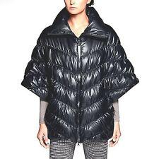 * $300 Womens L NIKE Cascade Down Fill Water Repellent Poncho Coat Jacket Black