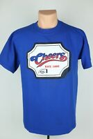 Vintage Cheers Mens Large Blue Graphic Single Stitch T Shirt Made in USA Tee Jay
