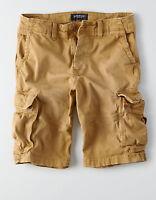 American Eagle Mens Extreme Flex Longer Length Cargo Shorts -  Khaki Sizes 36-48
