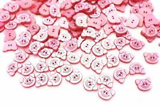 Pink Pig Buttons Special Shape Piggy Baby Children Shirt Blouse Animal 20pcs
