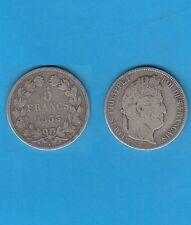 µ Gertbrolen µ  Louis-Philippe  5 FRANCS Argent tête laurée 1833 Nantes