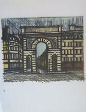 Bernard BUFFET (1928-99) Lithographie 1967 Nle Ecole de Paris L'Arc de triomphe