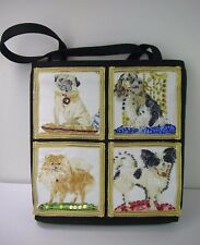 Dog Lovers Beaded Handbag Shoulder Bag Pug, Spaniel, Pomeranian, Chihuahua NEW