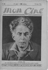 Mon Ciné N° 25/1922 - André Nox, Juanita Hansen, Mary Pickford, Armand Bernard