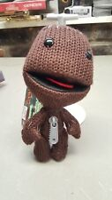 """LITTLE BIG PLANET 2 Plush SACKBOY Knitted Brown Doll 7.5"""" With Tag"""