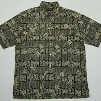 Tori Richard Honolulu Hawaiian Shirt - Short Sleeve - Leaves - Medium