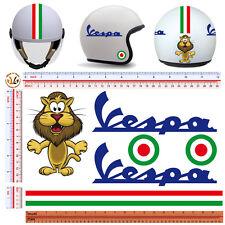 adesivi casco leone strisce italia vespa sticker helmet leon italian flag 6 pz.