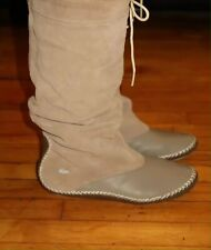 LACOSTE Cara 128RW1031 Woman's Calf Leather Gray/Grey Flat Boots, Size: 6.5 36.5