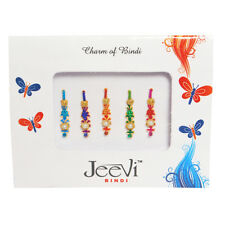Bindi Bindis Pack of 5 Multicolor Bollywood Designer Head Sticker Gem Tattoo