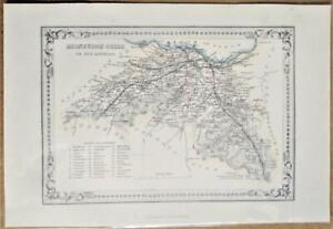 1868; Edinburgh Shire; Scottish Victorian County Map; Wilson/Fullarton