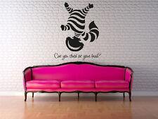 Wall Decal Vinyl Sticker Cheshire cat Smile Alice in Wonderland r1319