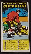 1964/65 - TOPPS - TALL BOY - CHECKLIST - HOCKEY CARD #54