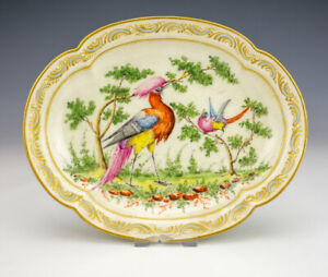 Antique Chelsea English Porcelain - Bird Painted Bowl - Damaged But Early!