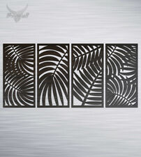 4pcs Tropical Leaves Wooden Wall Art Home decor timber hanging silhouette