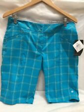 EP Pro Sport  Shorts Athletic Blue Plaid Knee Length  Shorts Womens Size 10