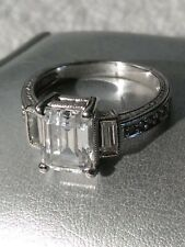 Silver Engagement Ring #0004 Cc Cz 925