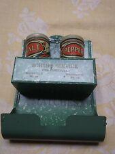 New listing Vintage Tin Advertising Salt & Pepper Match Holder