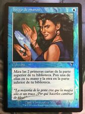 Mtg, FOIL Sleight Of Hand. 7th Edition Common. *Spanish MP*
