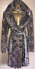 Exquisite Karen Millen Luxury Pony Fur Belted Mac Coat Uk12 Stunning