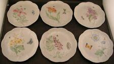 6 Lenox Butterfly Meadow Lunch Luncheon Salad Plates All Different
