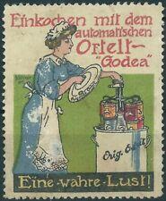 """Reklamemarke, Einkochen mit Ortelt - """"Godea"""", Entw.:Kurt Böttcher (#26229)"""
