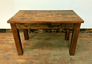 HANDMADE SOLID WOOD BAR TABLE / 4 FT / DARK TONE / STRONG / BISTRO 20 AVAILABLE