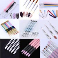 UV Gel Nail Art Pen Painting Drawing Brush Kits Liner Cuticle Remover Set Tools