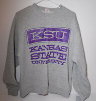 Vintage 1990s KSU K-STATE KANSAS STATE UNIVERSITY Sweatshirt Fruit of Loom LARGE