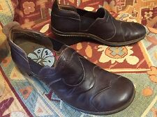 ROMIKA Brown Leather Clogs Flats Shoes Wave Pattern Womens EU Size 40 US 8.5 — 9