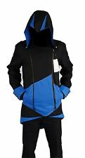 NWT COS2BE Mens Black & Blue ASSASSIN'S CREED Cosplay Hooded Jacket Costume ~ XL