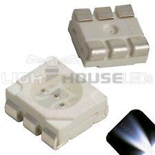 100 x LED PLCC6 5050 Cool Clear White SMD LEDs Light Super Ultra Bright PLCC-6