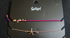 Anklets (pack of 2) from sportsgirl New Pretty Beading and Star Fish