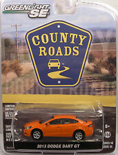 ORANGE 2013 DODGE DART GT GREENLIGHT 1:64 SCALE DIECAST METAL MODEL CAR
