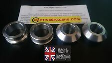 Yamaha YZF R1  1999 - 2001 Superbike captive race wheel Spacers. Full  set.