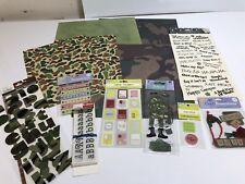 Military Scrapbooking Stickers, Embellishments, Scrapbook Paper Camo Etc