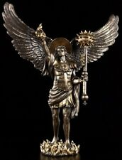 bronzierte Figuren Erzengel Uriel bronze Figur Skulptur Engel Archangel Angel
