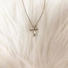 b1fbbfebb FINE Tiffany & Co. Elsa Peretti Sterling Silver Cross Pendant Necklace ...